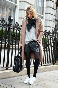 How To Layer Your Chunky Sweater Like A Style Blogger via @WhoWhatWear