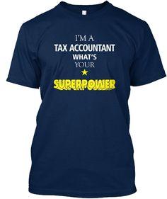 Tax Accountant T Shirt Navy T-Shirt Front