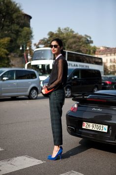 The Locals - Milan Fashion Week  Blue Suede Shoes