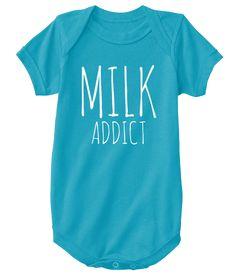 2e4887de Milk Addict | Baby Onsie | Blue | Boy Funny Onsies, Onesies, Cute Baby