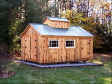 DIY PLANS, 12x16 Sugar Shack Storage Shed/Cabin, Yard/Garden/Outdoor/Sugaring