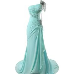 Aqua evening dress - stunning