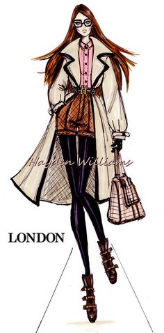 #Hayden Williams Fashion Illustrations 'City Style' by Hayden Williams: London