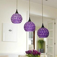 purple glass ceiling light   Nakedsnakepress com Pin By Danielle Cohen On Home Furnishings Purple Glass  Glass Jug Pendant