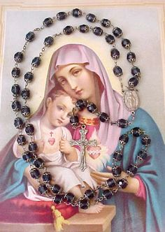 Beautiful Vintage Rosary with Deep Blue by TheJewelMystique, $40.00