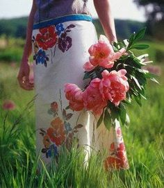 Gathering flowers is one of life's simple  pleasures.