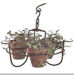Hanging Flower Pot Chandelier