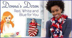 Donna's Dozen: Red, White and Blue for You