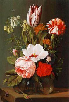 Nicolaes van Verendael (1640-1691) — Still Life with Flowers (600x894)