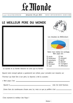 To retype because there is a fault … – … – Nicewords Fathers Day Art, Fathers Day Crafts, French Teacher, Teaching French, Mother And Father, Happy Father, French Kids, Education And Literacy, Core French