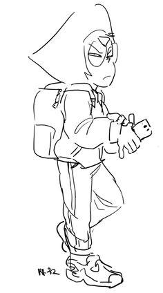 Steven Universe Drawing, Universe Art, Lapidot, Adventure Time Tumblr, Rebecca Sugar Art, Cartoon Network, Steven Universe Personajes, Holly Blue, Lapis And Peridot