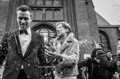Stunning Netherlands Wedding by Indra Simons Navy Tuxedos, Photojournalism, Absolutely Stunning, Black Tie, Netherlands, Two By Two, Fur Coat, Groom, Bride