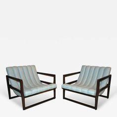 "Pair of Milo Baughman ""Cube"" Lounge Chairs by Milo  Baughman"
