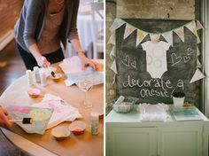 decorate a onsie--baby shower