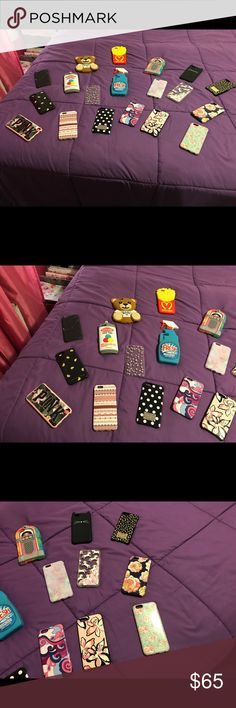iPhone 6/6s Phone Case Bundle!! Trying to get rid of these beauties! I upgraded my phone and they no longer fit!  So I'm looking for them to go to new homes! They are used so they will show slight signs of wear (some more than others) but they're still in good condition. You can bundle them if you like. Just let me know which ones you want in your bundle and I will make an individual package for you! ♥️ Leave me an offer if interested!  Accessories Phone Cases
