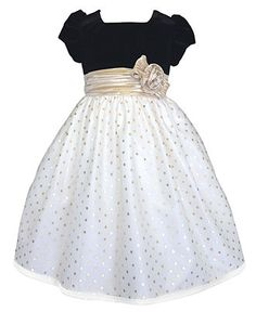 Janye Copeland Kids Dress, Little Girl Mesh Gold Dot Dress - Kids Dresses - Macy's