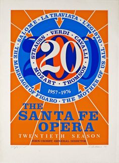Robert INDIANA Santa Fe Opera 20th Season 1976 Foil Poster
