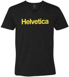 Helvetica (Yellow) Short-Sleeve V-Neck T-Shirt