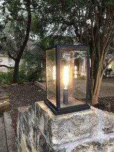 Stunning DIY outdoor lighting Ideas That Bring Magic Into The 6057617657 Driveway Lighting, Backyard Lighting, Exterior Lighting, Outdoor Lighting, Lighting Ideas, Driveway Light Post, Driveway Entrance, Garage Lighting, Gate Lights