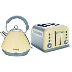 MORPHY RICHARDS ACCENTS CREAM TRADITIONAL 1.5L KETTLE AND 4 SLICE TOASTER SET