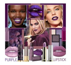 """""""Petra Prefers A Plump Purple Pout & Picking The Perfect Plum Is No Problem"""" by sharee64 ❤ liked on Polyvore featuring beauty, Yves Saint Laurent, Maybelline, Urban Decay, Lipstick Queen, MAC Cosmetics and Lime Crime"""