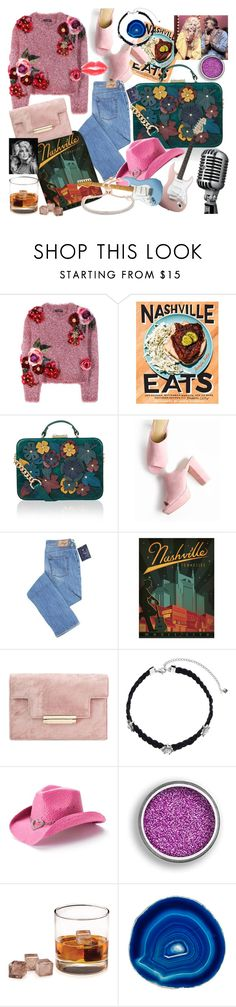 """""""she left town for nashville"""" by kaliforniakatie on Polyvore featuring Dolce&Gabbana, Chronicle Books, Accessorize, Rebecca Minkoff, Peter Grimm, KENNY, BLVD Supply, ANNA by RabLabs and Monica Vinader"""