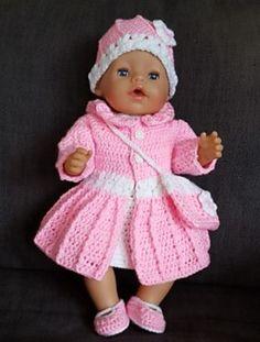 Ravelry: ELISE heklet antrekk til BabyBorn dukken pattern by Ann Berit Skjølsvik