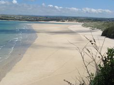 Porth Kidney Sands - Hayle - Cornwall (great sand dunes for kids here)and is always quite empty