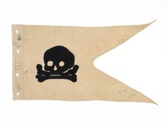 All German Army cavalry units carried lances fitted with a pennant. The 'Death's Head Hussars' carried lance pennants displaying the skull and crossbones, like the one pictured here. This pennant was captured during the Battle of the Marne in Fokker Dr1, Lynda Barry, Battle Of The Somme, Textiles, Tumblr, Skull And Crossbones, Skull And Bones, Memento Mori, World War I