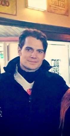 """Hunky Cavill looks like a cute football player maybe a tight end with the """"tightest end""""...lol!! ;)"""
