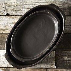 Plat de cuisson ovale en fonte noire (3 tailles) Serax