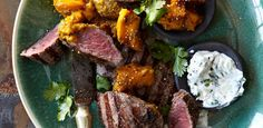 Ostrich fillet with mango and tamarind curry