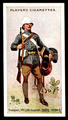 Cigarette Card - Trooper, 1st Life Guards, Camel Corps, 1884 | Flickr - Photo Sharing!