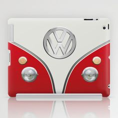 VW Camper Van [RED] iPad Case
