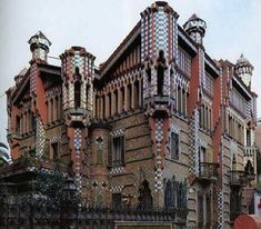 "Casa Vicens is a family residence in Barcelona, designed by Antoni Gaudí and built for industrialist Manuel Vicens. It was Gaudí's first important work. It was added to the UNESCO World Heritage Site ""Works of Antoni Gaudí"" in 2005."