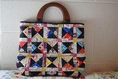Patchwork handbag by quarter inch mark/ Chase, via Flickr