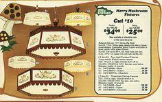 1977p5 Vintage Lamps, Vintage Decor, Vintage Stuff, Retro Vintage, Mushroom Lights, Retro Kitchens, Precious Moments Figurines, Woodland Decor, Christmas Catalogs