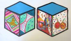 Cube Mural Inspired by Street Artist Thank YouX | Art is Basic | An Elementary Art Blog