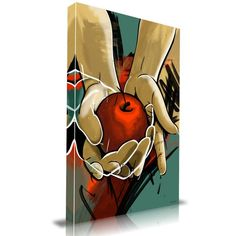 'Temptation' Graffiti Graphic Art on Wrapped Canvas