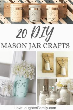 20 of The Cutest Mason Jar Craft Ideas For Your Home. Home Mason Jar Crafts. The Best Jar Craft Ideas For Your Home. #masonjar