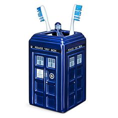 Doctor Who TARDIS Ceramic Toothbrush Holder