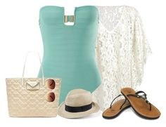 """First Swim of the Summer"" by craftytaffy ❤ liked on Polyvore"