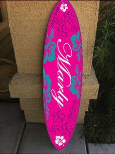 wall hanging surf board surfboard decor hawaiian by RadGraffix