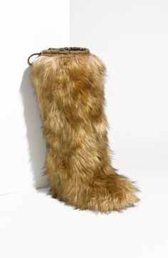 Prada Hidden Wedge Faux Fur Boot | Nordstrom - StyleSays