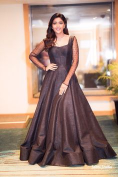 Telugu Actress Eesha Rebba Latest Photoshoot stills - Full HD Wallpapers Long Gown Dress, Lehnga Dress, The Dress, Lehenga, Peplum Gown, Indian Designer Outfits, Designer Dresses, Simple Gown Design, Indian Frocks