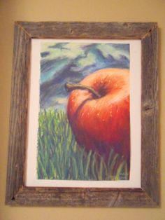 """Pastel Apple"" Original Chalk Pastel Drawing on by Michelle Durell / Durell Studio"