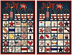 July 4th Bingo Game with free printables