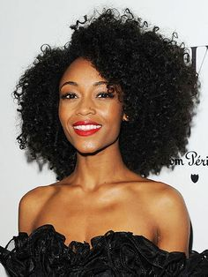 A little tighter than 3C hair, 4A texture is usually characterized by S-shaped, corkscrew-like curls, but it can sometimes be a mix of corkscrew and zigzag curl patterns. Sophie Okonedo, Yaya DaCosta, and Sonequa Martin-Green are all 4A.