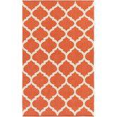 Found it at Wayfair - Vogue Orange Geometric Everly Area 4x6 $110Rug