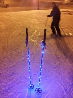 How to rig your ski poles with LED lights!